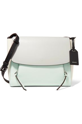 DKNY Greenwich color-block leather shoulder bag