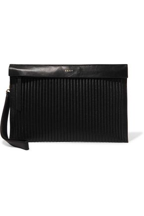 DKNY Quilted leather clutch
