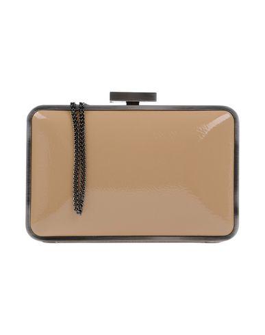 OLGA BERG レディース ハンドバッグ サンド ポリ塩化ビニル