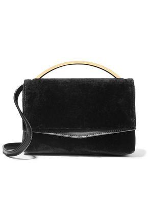 EDDIE BORGO Boyd Vanity leather-paneled velvet shoulder bag