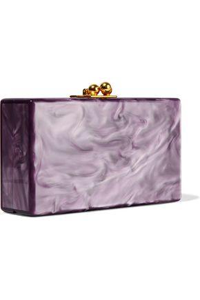 EDIE PARKER Jean Grrr! glittered acrylic box clutch