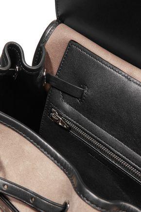 ALEXANDER WANG Prisma paneled suede backpack