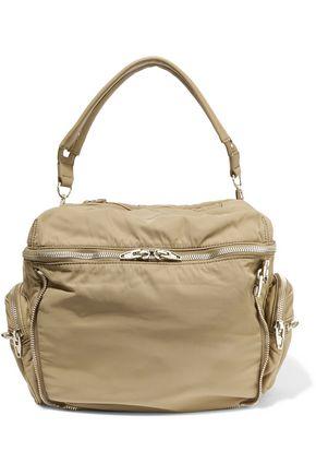 ALEXANDER WANG Jane zip-embellished leather-trimmed shell shoulder bag