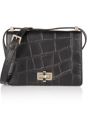 DIANE VON FURSTENBERG Les croc-effect leather shoulder bag