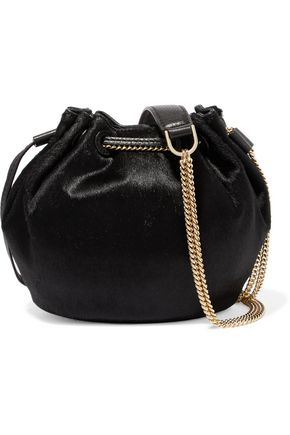 DIANE VON FURSTENBERG Calf hair bucket bag