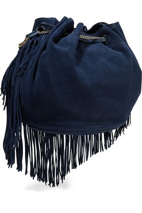 DIANE VON FURSTENBERG Fringed suede shoulder bag