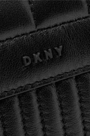 DKNY Gansevoort quilted leather and suede shoulder bag