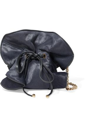 NINA RICCI Leather-trimmed calf hair shoulder bag