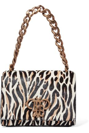EMILIO PUCCI Zebra-print calf hair shoulder bag
