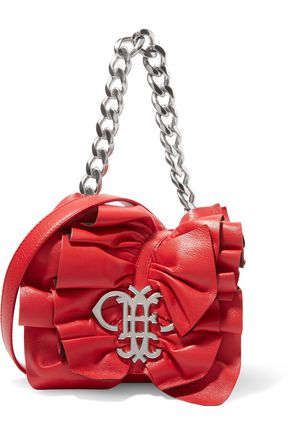 EMILIO PUCCI Ruffled leather shoulder bag