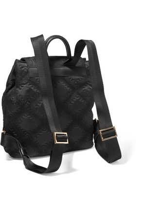 TORY BURCH Flame embroidered shell backpack