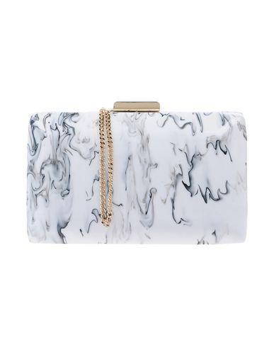 OLGA BERG レディース ハンドバッグ ホワイト 紡績繊維
