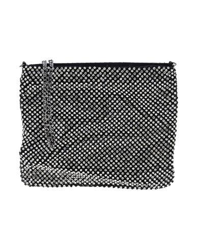 OLGA BERG レディース ハンドバッグ ブラック アルミニウム