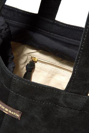 ANTIK BATIK Pom pom-embellished suede shoulder bag
