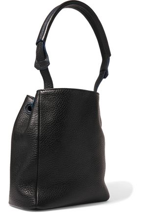 SANDRO Textured-leather shoulder bag