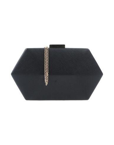 OLGA BERG レディース ハンドバッグ ブラック 紡績繊維