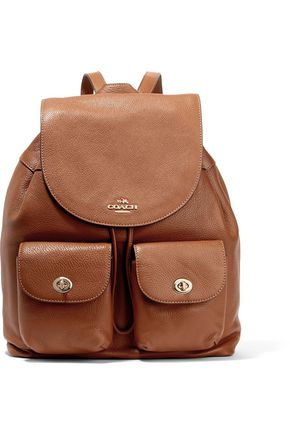 COACH Billie textured leather backpack