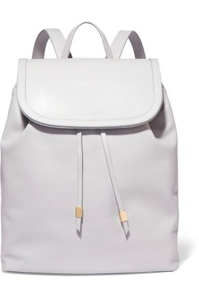 IRIS & INK Suede-trimmed leather backpack