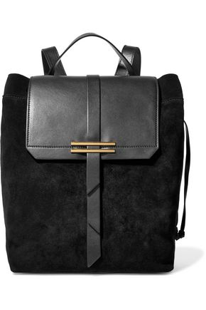 IRIS AND INK Jane leather-paneled nubuck backpack