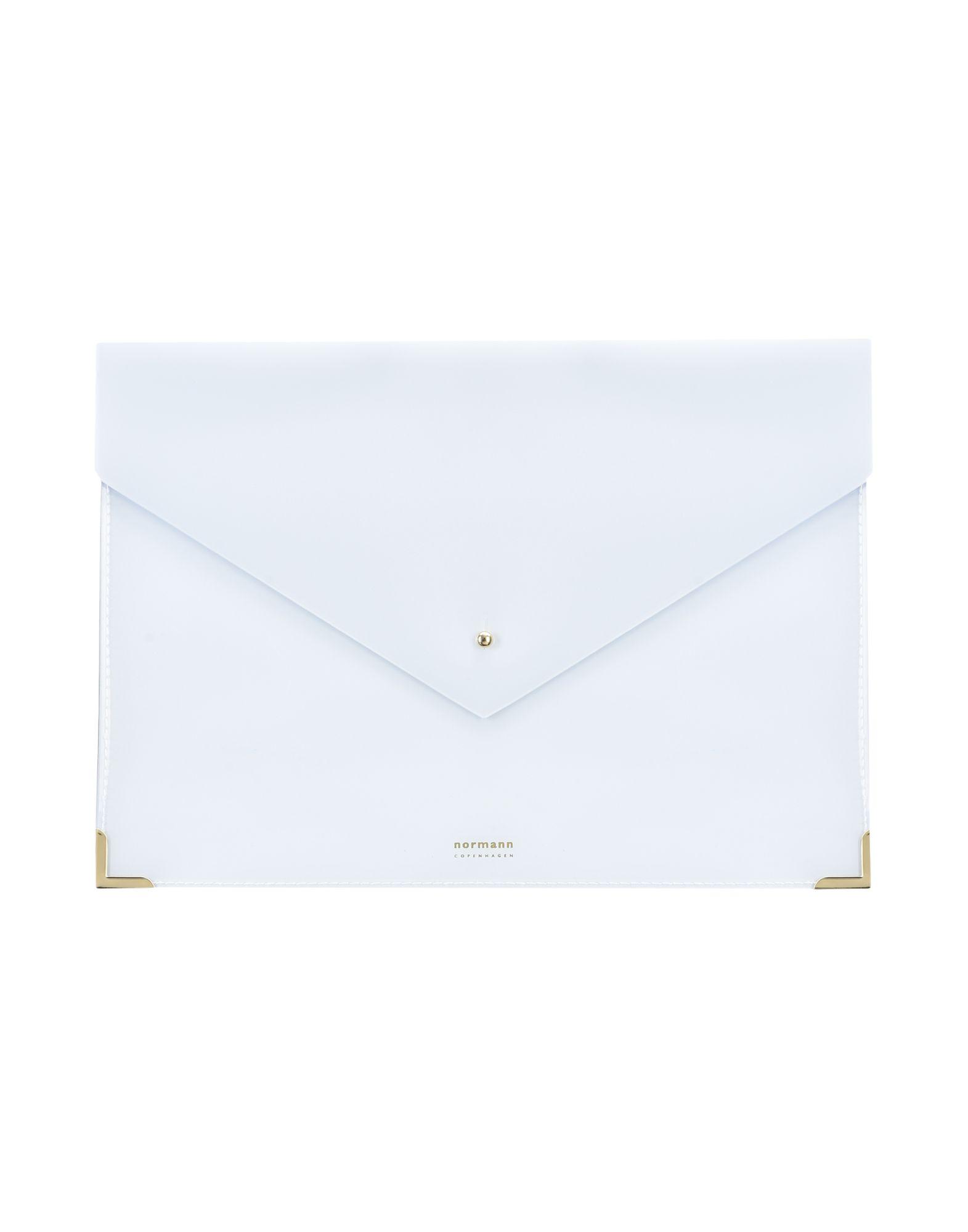 《セール開催中》NORMANN COPENHAGEN レディース ハンドバッグ ライトグレー プラスティック Envelope Folder Large Daily Fiction