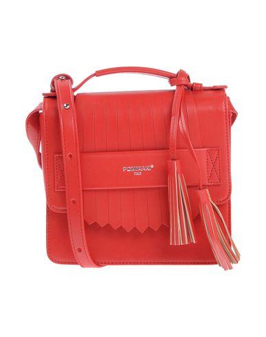 POMIKAKI レディース ハンドバッグ レッド 紡績繊維