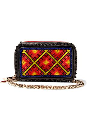 CHRISTIAN LOUBOUTIN Piloutin embellished leather clutch