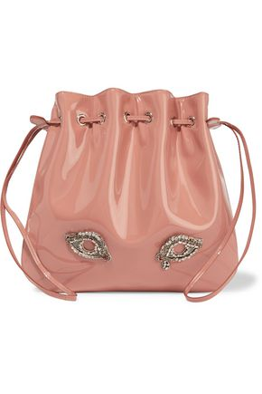 ROCHAS Tilda medium embellished patent-leather shoulder bag