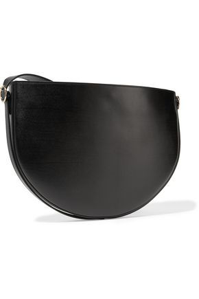 VICTORIA BECKHAM Small Half Moon leather and suede shoulder bag