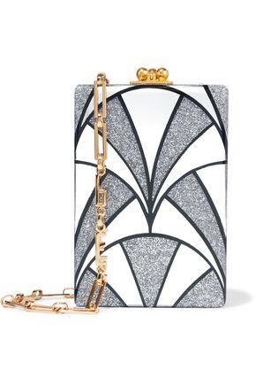 EDIE PARKER Carol Nouveau glittered acrylic shoulder bag