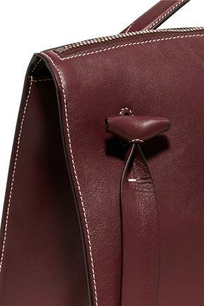 JIL SANDER Hill contrast-stitched leather tote
