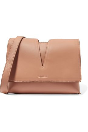 JIL SANDER Cutout leather shoulder bag