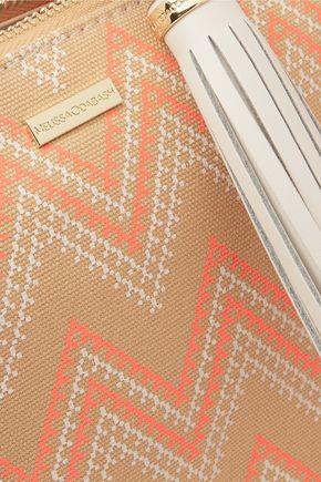 MELISSA ODABASH Ibiza printed canvas clutch