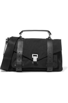 PROENZA SCHOULER PS1 medium leather-trimmed faille shoulder bag