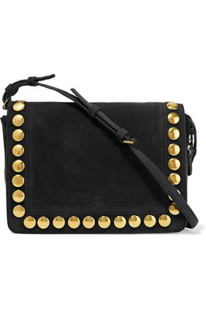 JÉRÔME DREYFUSS Igor studded suede shoulder bag