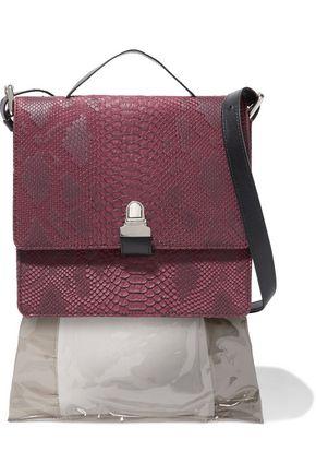 MM6 by MAISON MARGIELA Snake-effect faux leather shoulder bag