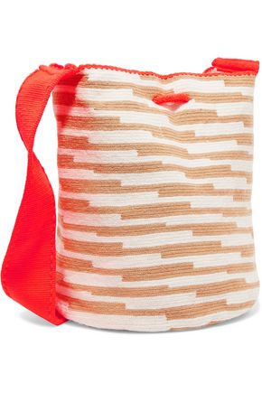 SOPHIE ANDERSON Lilla woven cotton shoulder bag