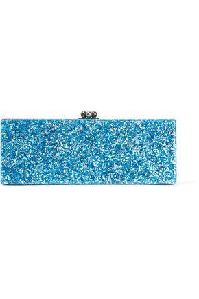 EDIE PARKER Flavia glittered acrylic clutch