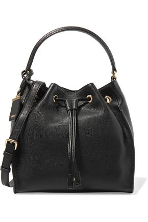 DKNY Textured-leather bucket bag