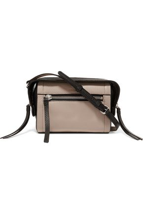 DKNY Two-tone textured-leather shoulder bag