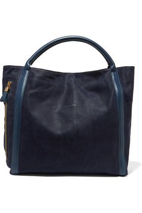 SEE BY CHLOÉ Leather-trimmed suede tote