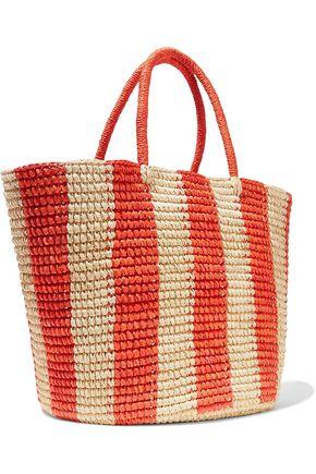 SENSI STUDIO Maxi Cruise striped toquilla straw tote