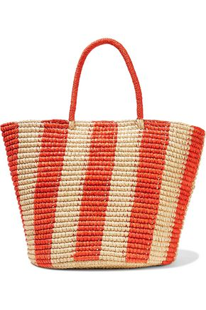 SENSI STUDIO Maxi Cruise striped toquilla straw tote