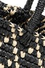 SENSI STUDIO Canasta Rombos mini toquilla straw tote