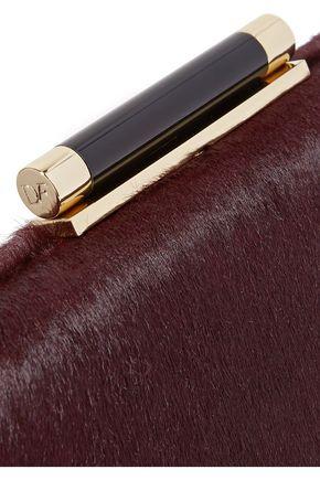 DIANE VON FURSTENBERG Tonda embellished calf hair clutch