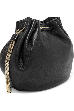 DIANE VON FURSTENBERG Love Power pebbled-leather bucket bag