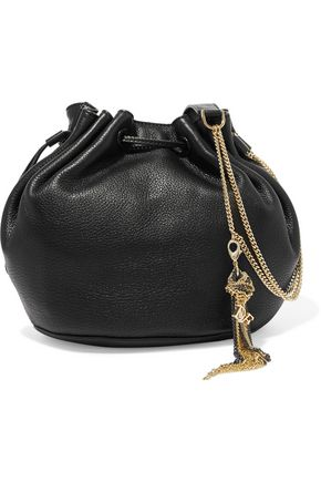 DIANE VON FURSTENBERG Love Power pebbled-leather bucket bag