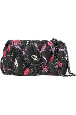EMILIO PUCCI Printed quilted twill shoulder bag