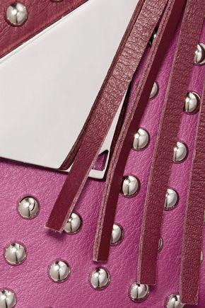 SARA BATTAGLIA Fringed studded leather shoulder bag