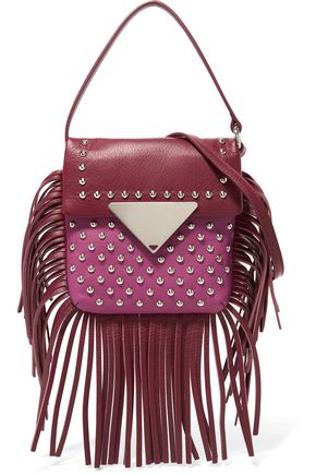 SARA BATTAGLIA Fringed studded leather shoulder bag