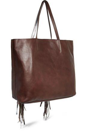 SARA BATTAGLIA Fringed leather tote